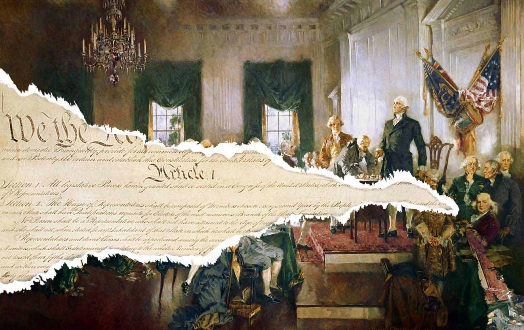 'We The People'. Den amerikanske forfatnings lange arm
