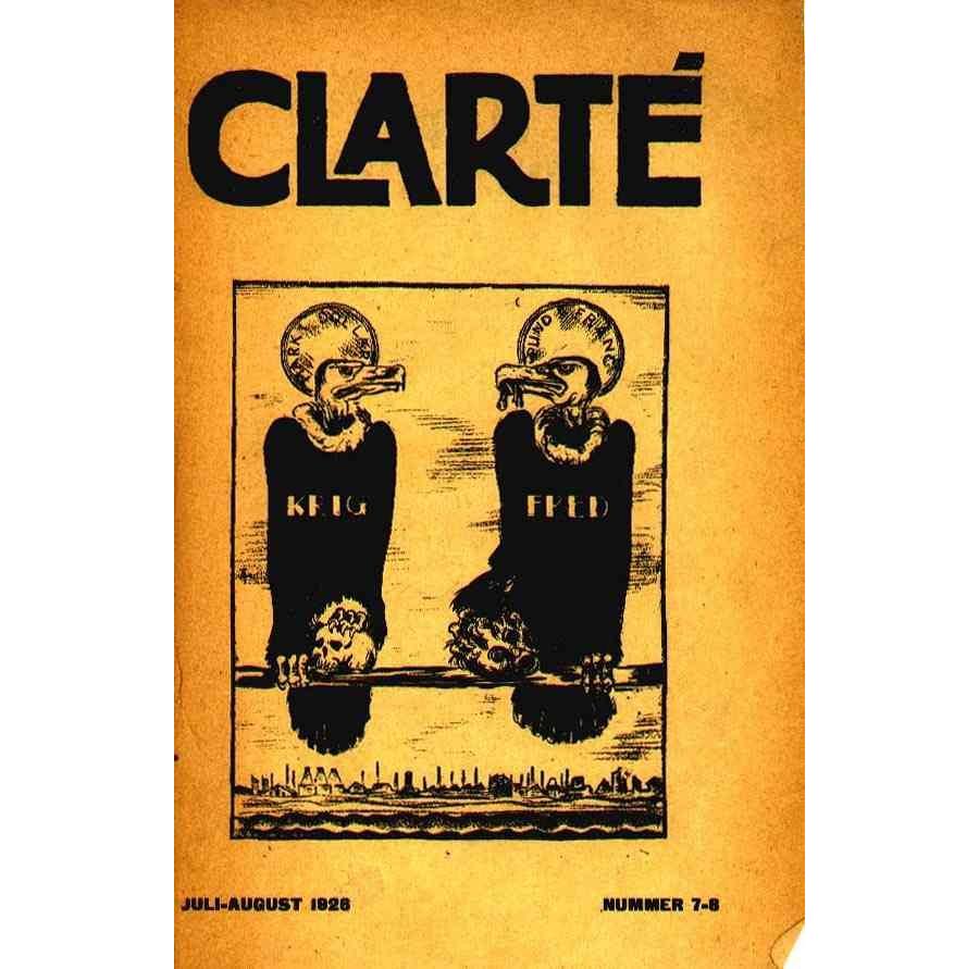 Clarté nr. 7-8, Juli-August 1926